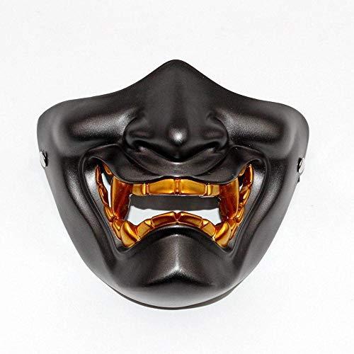 LXIANGP Riendo como una máscara de la Mitad de la Cara cos Halloween Horror japonés Fantasma Primera Mujer Puede Usar Gafas Sombrero Masculino máscara táctica