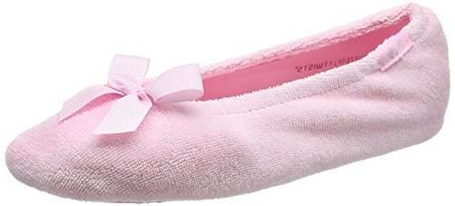 Isotoner Terry Ballet Slipper with Spot Bow, Chaussons Femme
