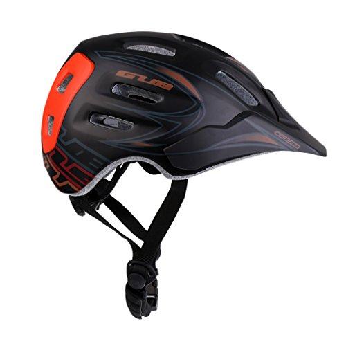 MagiDeal MTB Bike Fahrradhelm EPS Schaum Helm mit Helmvisier Schutzhelm Kieferschutz Fahrrad Zubehör - Schwarz M
