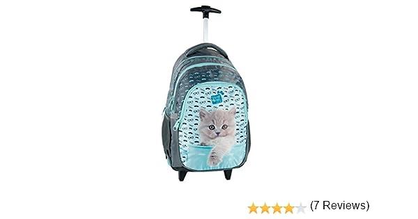 315fd40bf8 Studio Pets Gatto Blu zaino trolley scuola, ragazza, bambina: Amazon.it:  Valigeria