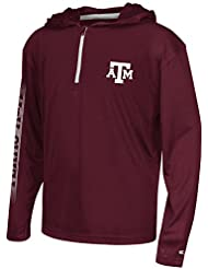 """Texas A&M Aggies Youth NCAA """"Sleet"""" 1/4 Zip Pullover Hooded WindShirt Chemise"""