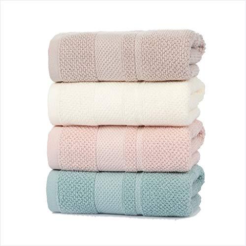 BNBO-L HWH Baumwolle Handtuch, Flauschige weiche Paare Freund Geschenk Towel erwachsenes Kind Outdoor-aktivitäten abwischen Handtuch 75 * 34 cm 4 stück Saugfähige Handtücher (Farbe : B)