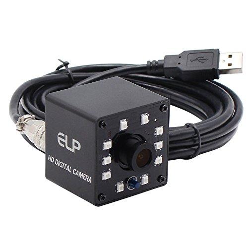 ELP KL36IR 1080P Webcam Full HD Nachtsicht Infrarot PC Kamera 720P/60FPS Plug and Play Kamera Video Web Cam USB mit IR Cut