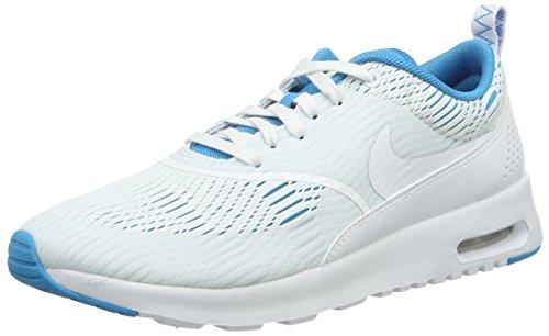 Nike W Air Max Thea EM, Chaussures de Sport Femme, 35.5 EU Blanc (White/White/Bl Lagoon/Ghst Grn)