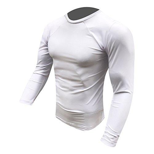 Prime Hastig Schutz Top MMA Laufen Ringen UFC Top T Shirt Herren Boxen Handschuhe Weiß Voll Arm groß Abbildung 3