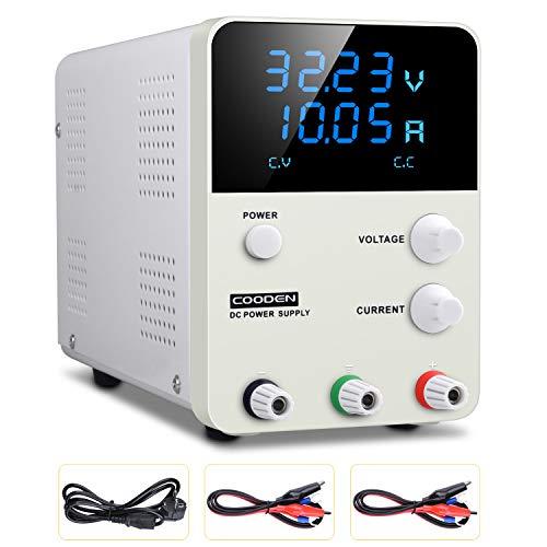 DC Einstellbar Stromversorgung COODEN Labornetzgerät 0-30V 0-10A DC regulated power supply switch Digital dispaly Einstellbar Stromversorgung Schalter CP3010S