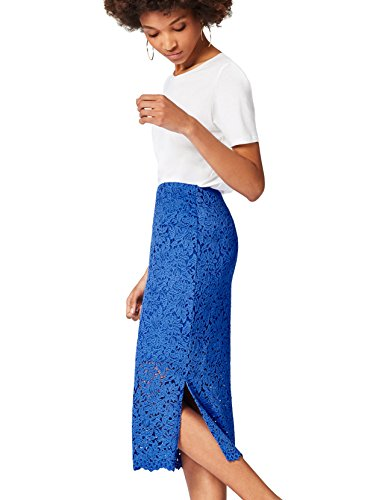FIND Lace Midi  Gonna Donna, Blu (Dazzling Blue), 44 (Taglia Produttore: Medium)