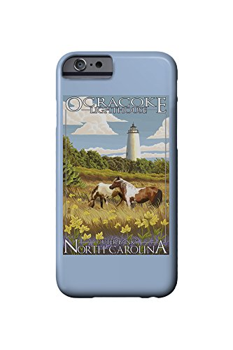 Ocracoke Lighthouse (Outer Banks, North Carolina - Ocracoke Lighthouse (iPhone 6 Cell Phone Case, Slim Barely There))