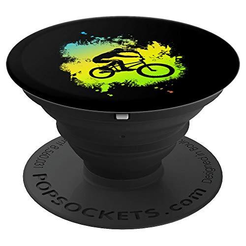 ideal Bmx Mountain Bike Geschenk für Downhill & Fahrrad Fans - PopSockets Ausziehbarer Sockel und Griff für Smartphones und Tablets