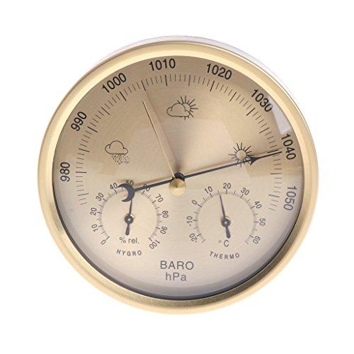 haia7k4k 12,7 cm Barometer Thermometer Hygrometer Wandmontage Haushalt Wetterstation