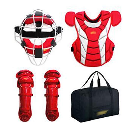 HJzmh Baseball Schutzausrüstung Jugendlich/Erwachsene Hard Catcher Schutzausrüstung Set