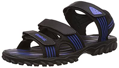 Reebok Men's Supreme Connect Royal and Black Leather Sandals and Floaters - 10 UK/India (44.5 EU)(11 US)
