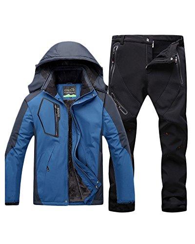 403dc15e8 Qitun Hombre de Trekking Impermeable Deportivos Transpirable Pantalones  Chaqueta de Esquí Impermeable Chaqueta de Nieve Excursionismo Conjunto ...