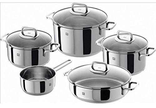 Zwilling Quadro–5Piece Cookware Set, Silver Colour, 58x 35x 30cm