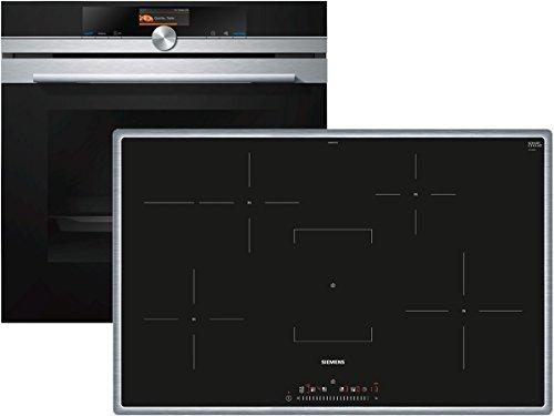 Preisvergleich Produktbild Siemens EQ2Z003X Set Backofen HB676GBS1 + Induktion Glaskeramik Kochfeld EH840FFB1E