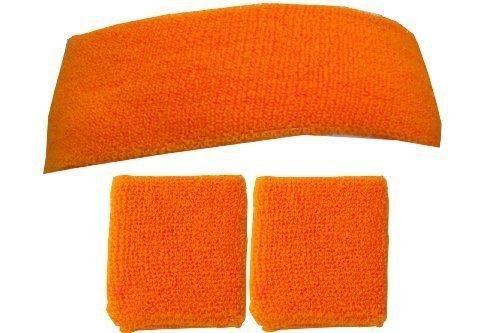 just-4-fun-leisurewear-sweatband-headband-2-wristbands-one-size-neon-orange