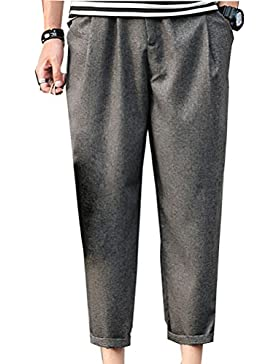 Zhhlaixing Ropa de deporte Mens Thin Linen Trouser Pants Loose Fit With Pockets