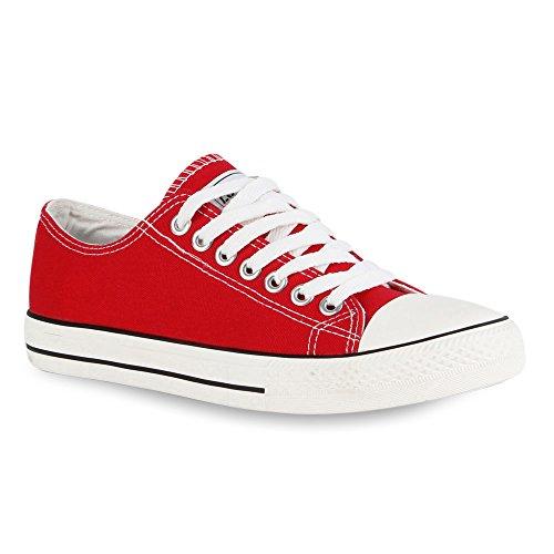 Herren Sneakers | Freizeitschuhe Sportschuhe | Schnürer Stoffschuhe |Fitness Streetstyle | viele Farben Rot