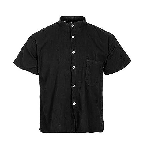 Tumia LAC - Chemise casual - Homme - noir -