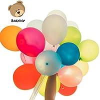 Bastelbär Luftballons - 100 bunte Ballons in 11 verschiedenen Farben - für Party, Geburtstag - groß - 25 cm