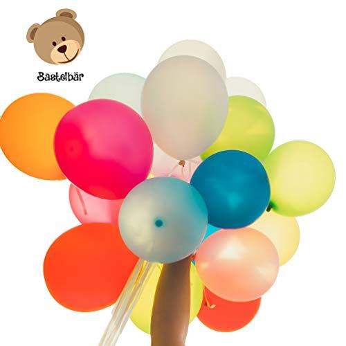 Bastelbär palloncini 100 palloncini compleanno, palloncini elio colorati per feste, composizione di 100 palloncini