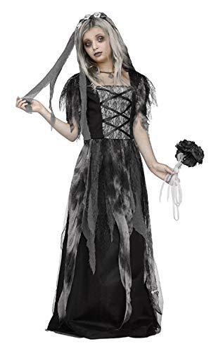 Fancy Me Mädchen Teen Friedhof Braut Leichnam Zombie Gruselig Gruselige Horror Halloween Kostüm Kleid Outfit 7-14 Jahre - 13-14 Years