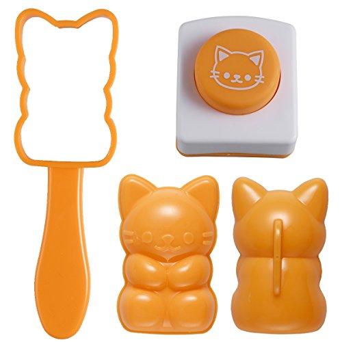 OUNONA Reisform Onigiri Maker Shaper Form Katze Sushi Form mit gerösteten Algen Reibahlen DIY Küche Werkzeug-Set
