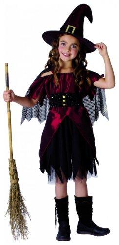 (Generique - Hexen-Kostüm Halloween für Mädchen 122/134 (7-9 Jahre))