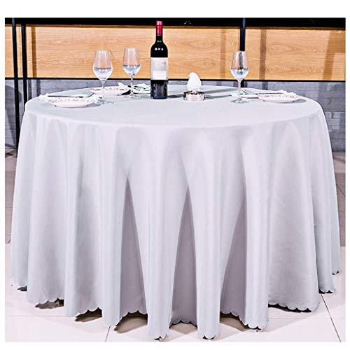JFFFFWI Hotel Restaurant Restaurant européen, Nappe, Nappe en Tissu Polyester Enduit, conférence, diamètre 70.86cm Nappe Nappe Tapis de Table Linge de Table Couvercle (Couleur : Gris Argent)