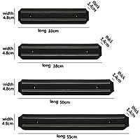 Yaldoendo 1x stong magnético Pared montado Cuchillo imán Barra Titular Display Rack Strip, Seguro, Seguro y fácil Almacenamiento solución para Herramientas de Cocina (tamaño: 50CM)