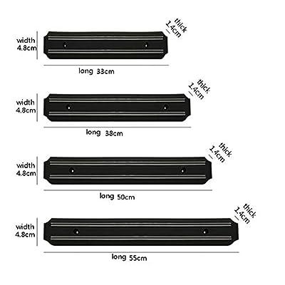 Yaldoendo 1 X Stong Magnetische Wandmontage Kchenmesser Magnetleisten Halter Display Rack Strip Sicher Einfache Aufbewahrung Lsung Fr Kchenutensilien Gre 55 Cm