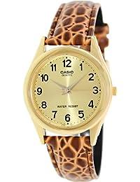 CASIO 19313 MTP-1093Q-9B - Reloj Caballero cuarzo correa de piel marrón dial dorado