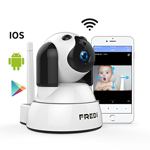 FREDI Wireless Wifi ip Security Camera 720P HD Baby Monitor Surveillance Nanny Pet Dog Camera With Two-Way Talking,IR Infrared Night Vision,Pan Tilt,P2P,Motion Detection(New app:Yoosee)