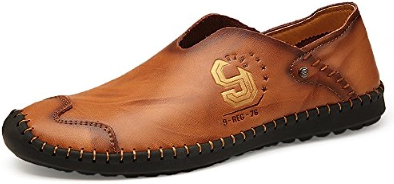 XUE Herren Schuhe Leder Fruumlhling Herbst England Schuh Loafers  Slip Ons Driving Schuhe Wanderschuhe Ruumlschen fuumlr