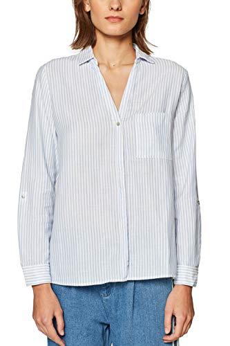 edc by ESPRIT Damen 029CC1F013 Bluse Weiß (Off White 110) Small (Herstellergröße: S)