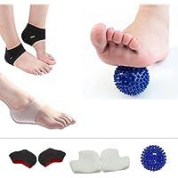 Plantarfasziitis Gel Fersenschutz Fersenpolster kit-5Stück, atmungsaktiv Silikon Ferse Socken, Massage Ball,... preisvergleich bei billige-tabletten.eu