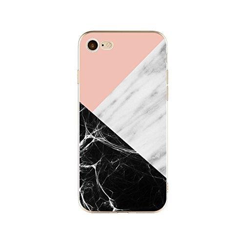 Coque iPhone 7 Plus Housse étui-Case Transparent Liquid Crystal en TPU Silicone Clair,Protection Ultra Mince Premium,Coque Prime pour iPhone 7 Plus-Marbre-style 10 16