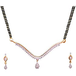 Sitashi Silver American Diamond Mangalsutra set for Women