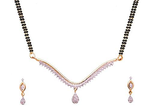 Sitashi Silver American Diamond Mangalsutra set for Women