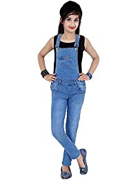 Sunday Casual Girl's Denim Square Neck Dungaree