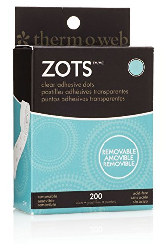 Zots Clear Adhesive Dots-Removable 3/8X1/64 Thick 200/Pkg by THERMOWEB