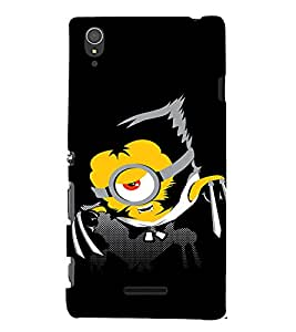 EPICCASE Abstarct Black Minion Mobile Back Case Cover For Sony Xperia T3 (Designer Case)