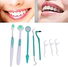 Orpio 8 In 1 Oral Care Kit Tooth Brush Dental Toothpick Hygiene