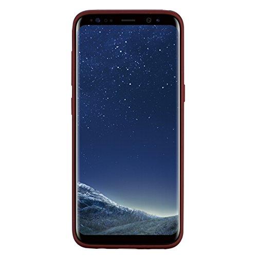 Galaxy S8 Hülle, Ultra Dünn TPU Weich Silikon Handy Hülle für Samsung Galaxy S8 (5.8 pouces), Niedlichen Einhörner Einfarbig Muster Design Handycover Schale Schutzhülle Ultradünnen Etui Anti-Stoß Krat Braun