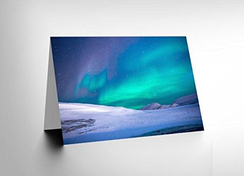greetings-card-birthday-gift-photo-aurora-borealis-norther-lights-snow-cl1888