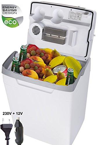 Adler 29 Liter Kühlbox 12v 230V Kombi thermoelektrische Camping Kühltasche Thermobox für Auto und Steckdose Mini Kühlschrank