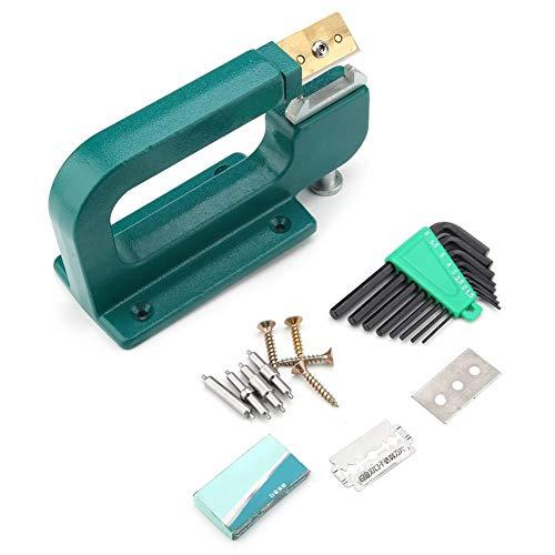 Leder Splitter Kit Green Craft Leder Schälmaschine Rand Schäl Peeler Splitter Skiver + Blade