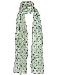 Écharpe verte - Unisexe - Légère et soyeuse - Motif celtique irlandais - En  satinSaint Patrick 25fed0e58e6