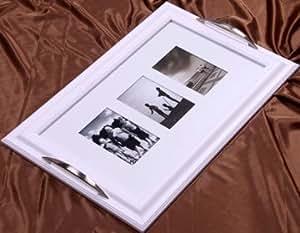 Plateau cadre photos blanc
