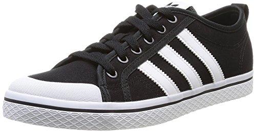 adidas Damen Honey Stripes Low W Basketball Turnschuhe, Black1/Wht/Black1, 36 EU